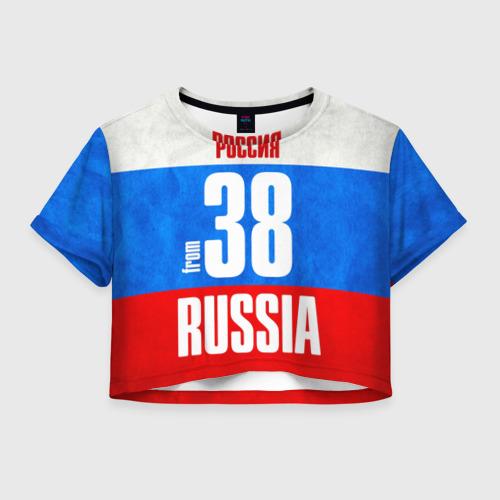 Женская футболка Crop-top 3D Russia (from 38)