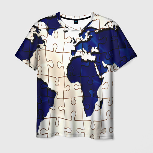 Мужская футболка 3D Мир