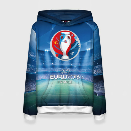 Женская толстовка 3D Euro 2016