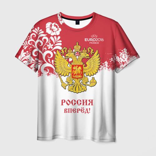 Мужская футболка 3D Euro 2016 (Russia)