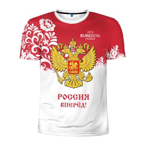 Мужская футболка 3D спортивная Euro 2016 (Russia)