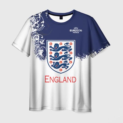 Мужская футболка 3D Euro 2016 (England)