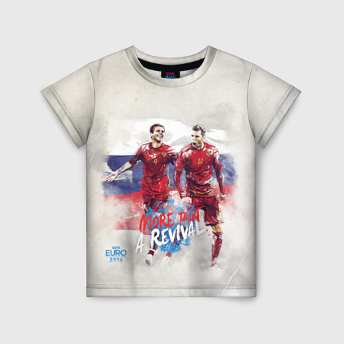 Детская футболка 3D Euro 2016 (Russian)