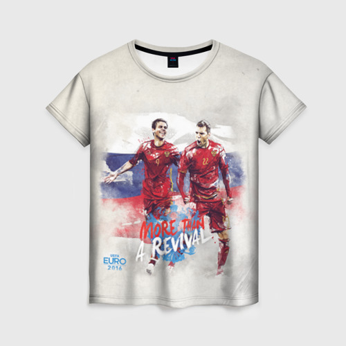 Женская футболка 3D Euro 2016 (Russian)