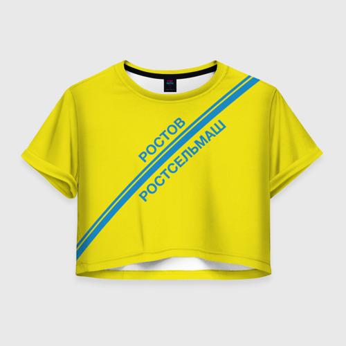 Женская футболка Crop-top 3D ФК Ростов