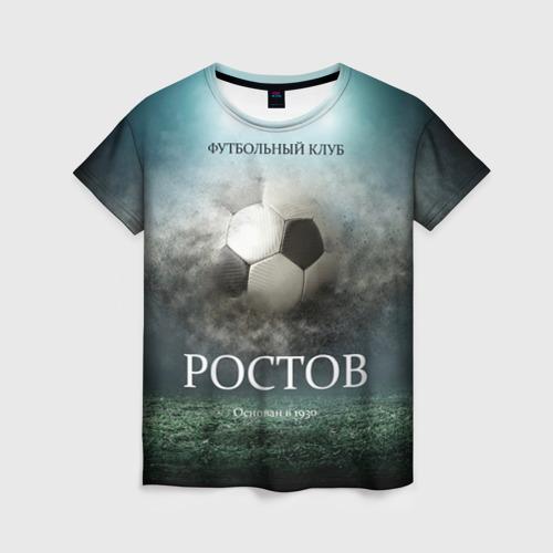 Женская футболка 3D FK Rostov