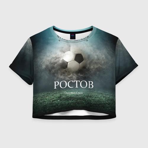 Женская футболка Crop-top 3D FK Rostov