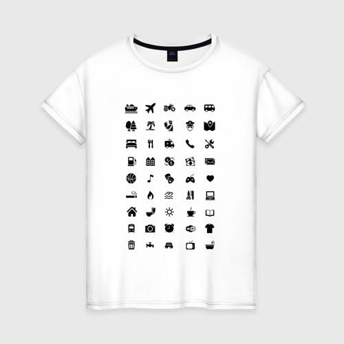 Женская футболка хлопок В путешествие