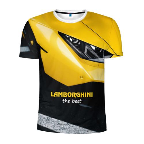 Мужская футболка 3D спортивная Lamborghini the best