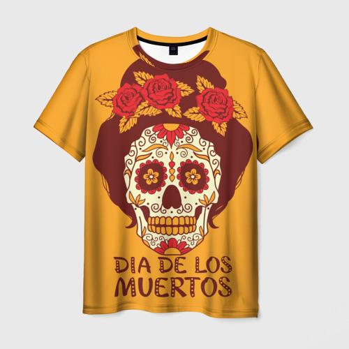 Мужская футболка 3D Мексиканский череп