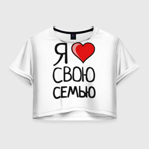 Женская футболка Crop-top 3D Family Look