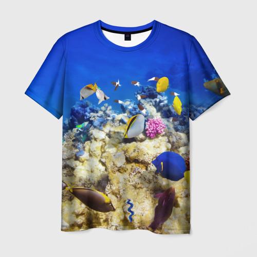 Мужская футболка 3D Море 2