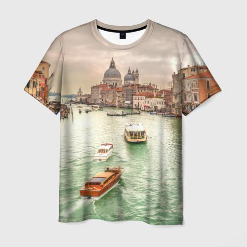 Мужская футболка 3D Венеция