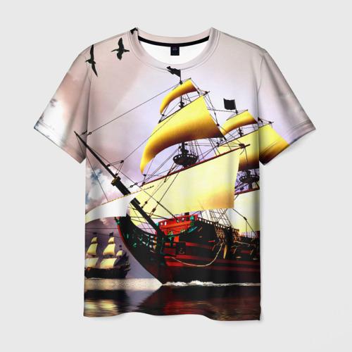 Мужская футболка 3D Фрегат