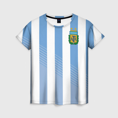 Женская футболка 3D Сборная Аргентины по футболу