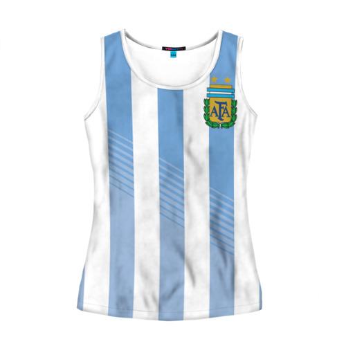 Женская майка 3D Сборная Аргентины по футболу