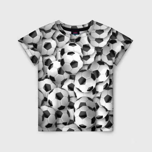 Детская футболка 3D Футбольные мячи