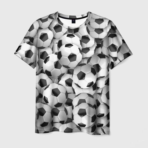 Мужская футболка 3D Футбольные мячи