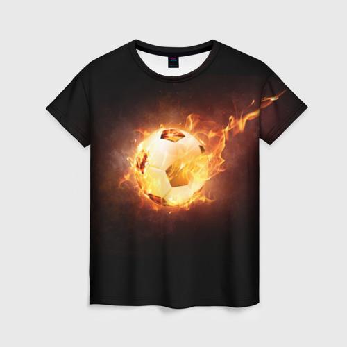 Женская футболка 3D Огненный мяч