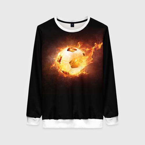 Женский свитшот 3D Огненный мяч
