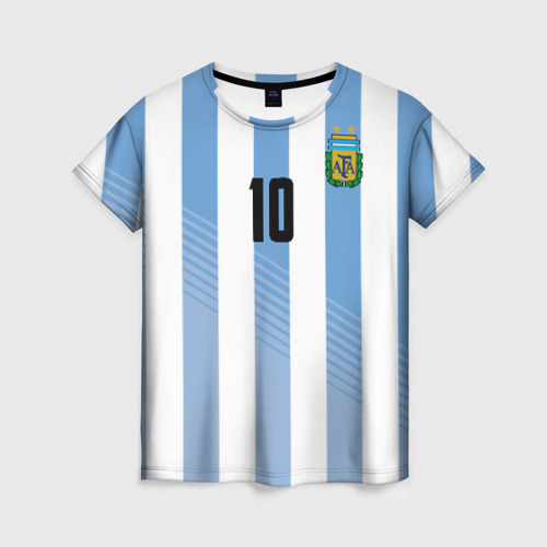 Женская футболка 3D Месси (сборная Аргентины)