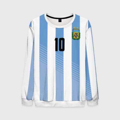 Мужской свитшот 3D Месси (сборная Аргентины)