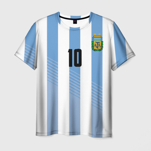 Мужская футболка 3D Месси (сборная Аргентины)