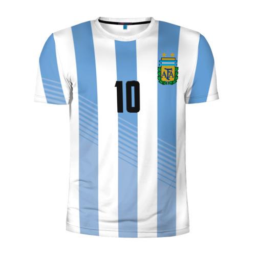 Мужская футболка 3D спортивная Месси (сборная Аргентины)