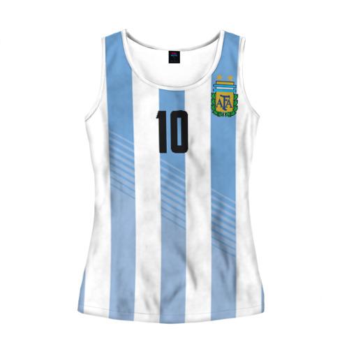Женская майка 3D Месси (сборная Аргентины)