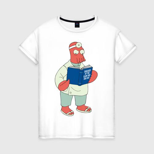 Женская футболка хлопок Доктор Зойдберг