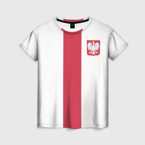 Женская футболка 3D Сборная Польша