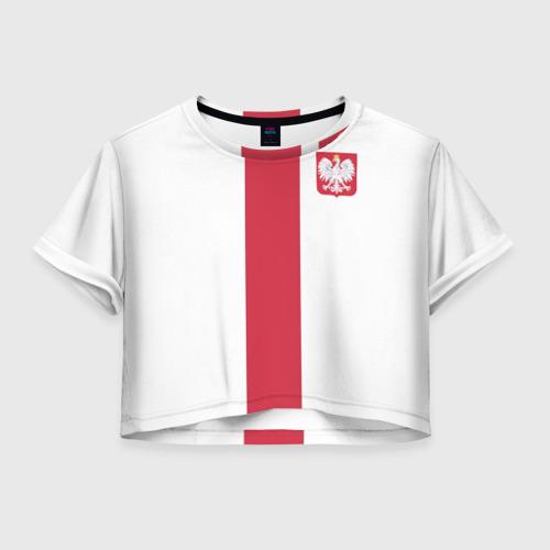 Женская футболка Crop-top 3D Сборная Польша