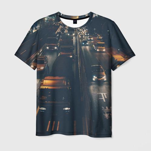 Мужская футболка 3D дорога