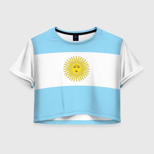 Женская футболка Crop-top 3D Аргентина
