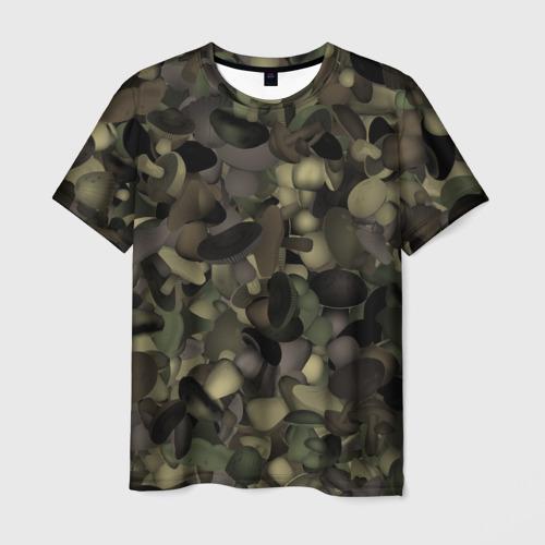 Мужская футболка 3D Грибной камуфляж