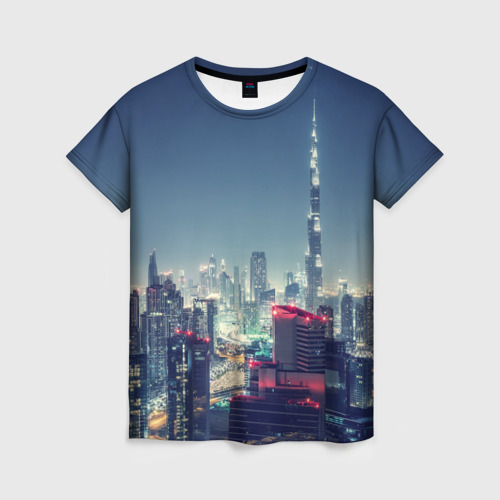 Женская футболка 3D Дубай