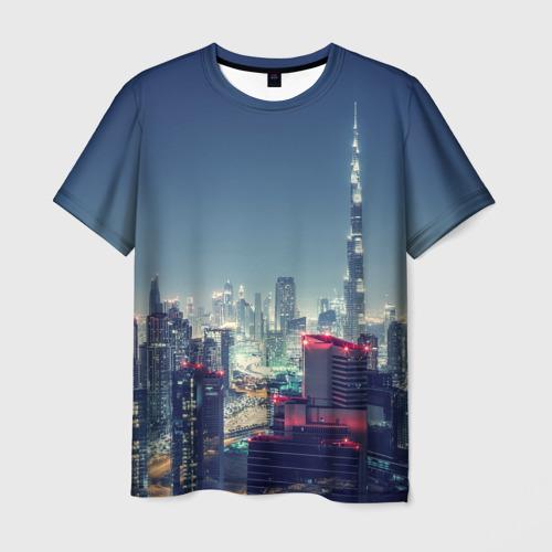 Мужская футболка 3D Дубай