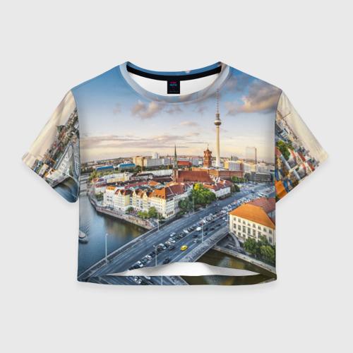 Женская футболка Crop-top 3D Germany