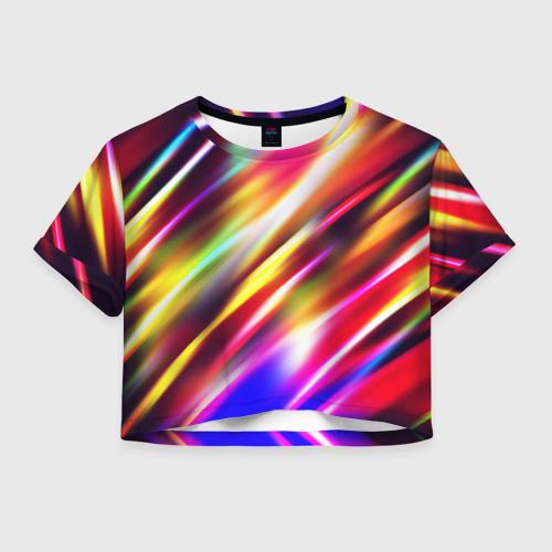 Женская футболка Crop-top 3D Party