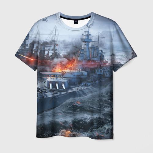 Мужская футболка 3D Корабли
