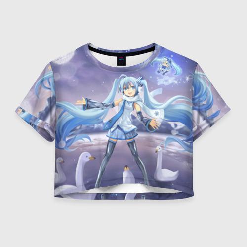 Женская футболка Crop-top 3D Yuki Miku