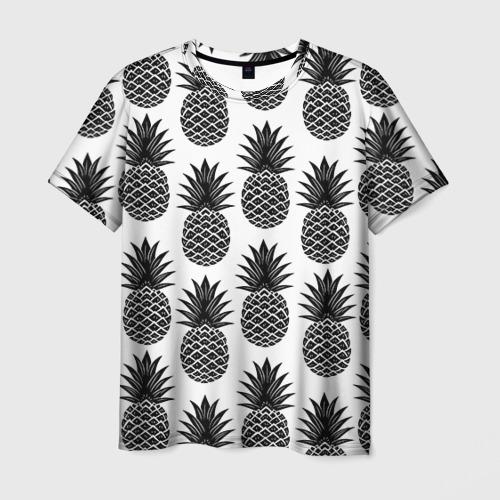 Мужская футболка 3D Ананасы 3