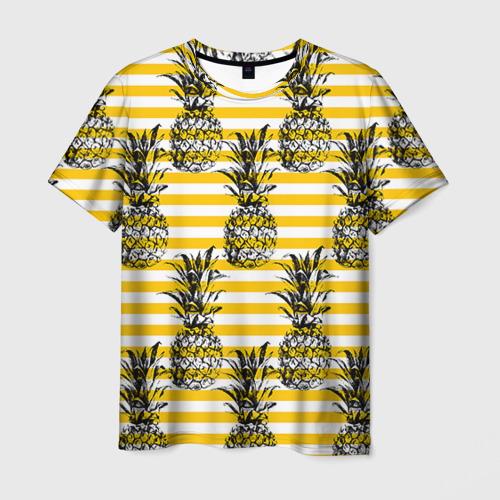 Мужская футболка 3D Ананасы 9