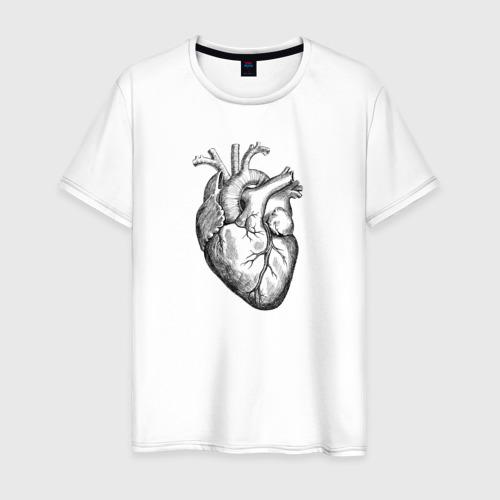 Мужская футболка хлопок Heart
