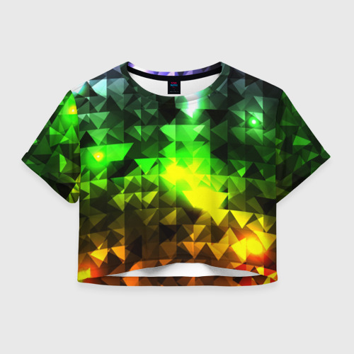 Женская футболка Crop-top 3D Party 1