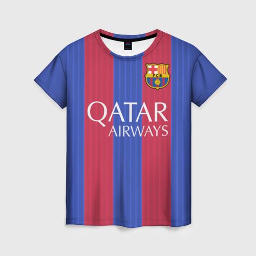 Женская футболка 3D Барселона форма