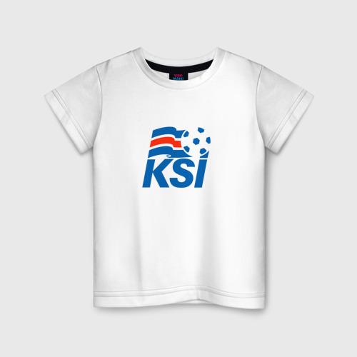 Детская футболка хлопок Сборная Исландии по футболу