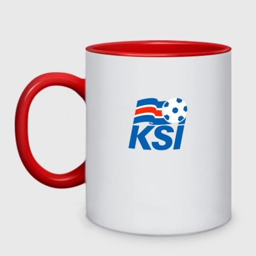 Кружка двухцветная Сборная Исландии по футболу