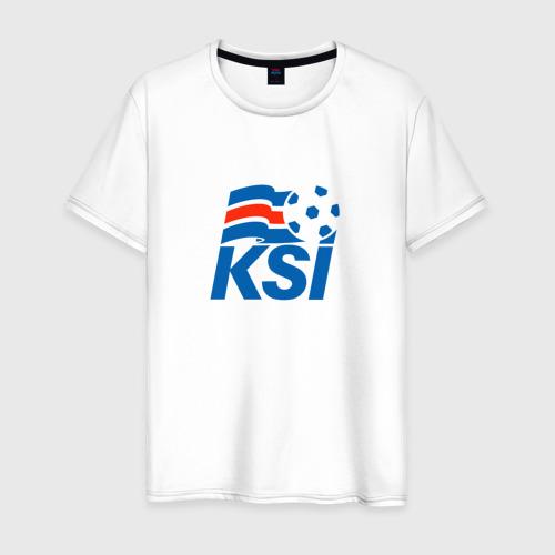 Мужская футболка хлопок Сборная Исландии по футболу