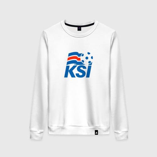 Женский свитшот хлопок Сборная Исландии по футболу
